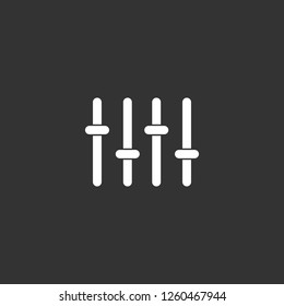 sound mixer icon vector. sound mixer sign on black background. sound mixer icon for web and app