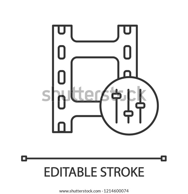 Sound Mixer Linear Icon Audio Equalizer Stock Vector Royalty Free