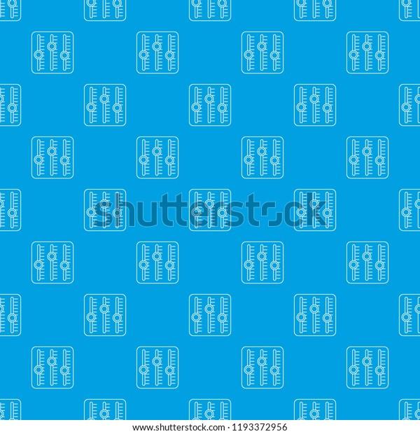 Sound Mixer Pattern Vector Seamless Blue Stock Vector