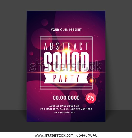 sound music party flyer template design stock vector royalty free