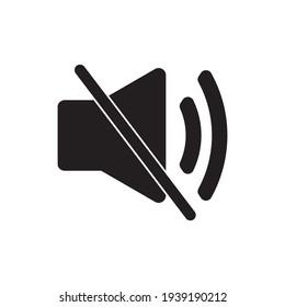 Sound Off Icon Vector. Speaker icon vector. Sound volume mute. Loudspeaker icon vector.