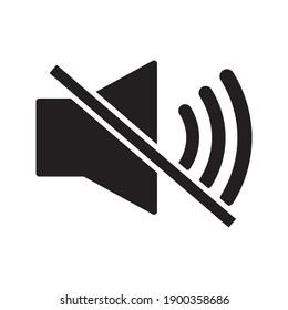 Sound off vector icon. Mute button speaker on white background. eps 10