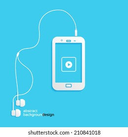 sound, phone, flat icon isolated on a blue background for your design, vector illustration