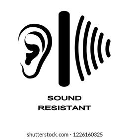 sound proof , resistant , barrier vector / icon ,Equipment for hearing Protection System.
