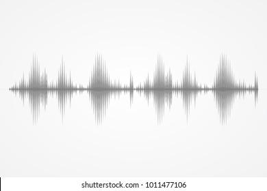 Sound and radio waves oscillating background. Digital technology splash. Audio record. Earthquake vibration. Human pulse or cardiogram. Vector illustration. Flat design