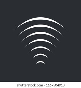Sound radio wifi Wave Icon, vector illustration isolated on black background.