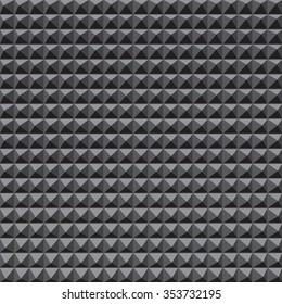 Sound recording studio wall background, from the middle to the edges, vector