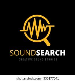 Sound Search Logo,Vector Logo Template