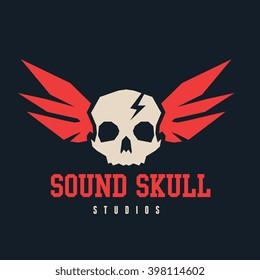 Sound Skull Logo Template