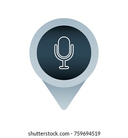 sound speaker social media mark pointer for web