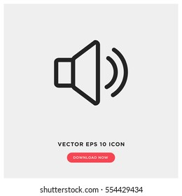 Sound vector icon, music volume symbol. Modern, simple flat vector illustration for web site or mobile app