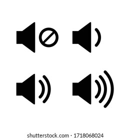 Sound volume icons vector illustration