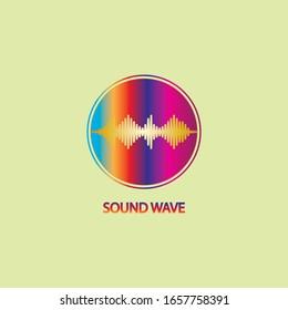 Sound Wave. Colorful sound waves for party, DJ, pub, clubs, discos. Audio equalizer technology. illustration