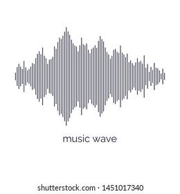 Sound wave equalizer. Modern vector illustration on light background