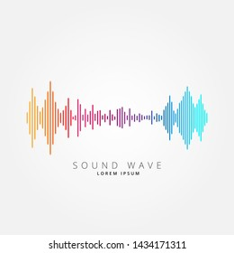 Sound wave equalizer suitable for poster, background or etc. Music soundwave design isolated on light gray backdrop. Vector Illustration