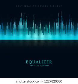 Sound wave equalizer vector design