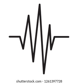 Sound wave icon isolated on white background. Sound wave icon for web site, music app and logotype design. Creative art concept, vector illustration