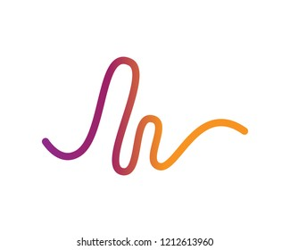 sound wave illustration logo vector icon template