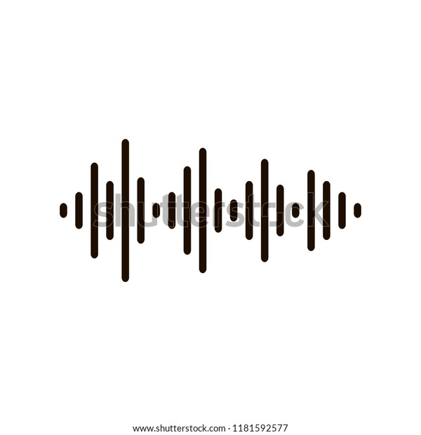 Sound Wave Illustration Vector Sound Icon Stock Vector