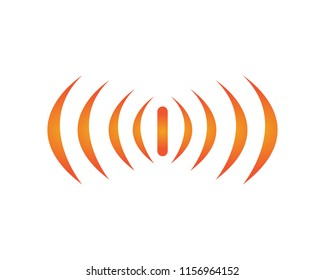 sound wave ilustration logo vector icon template