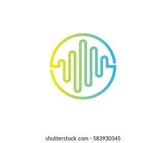 Sound Wave Logo Design Element