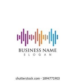 Sound wave logo and symbol vector