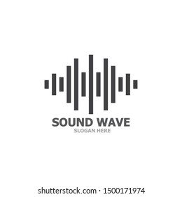 Sound wave logo template vector icon illustration