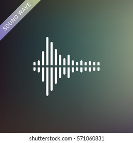 Sound wave music flat vector icon. Audio technology, musical pulse.