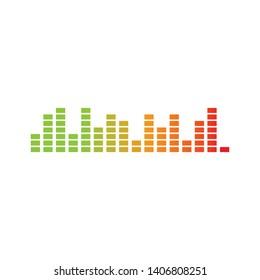 sound wave music logo vector template - Vector