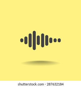 Sound wave music vector icon
