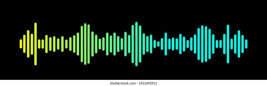 Sound Wave Symbol of Equaliser. Isolated on background. Gradient Vector Illustration Design.