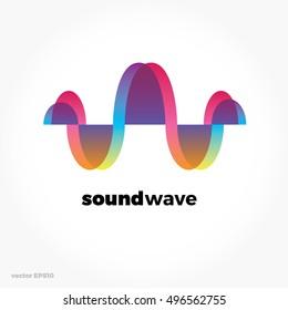 Sound wave symbol logo. Colorful gradient. Vector modern illustration and stylish design element