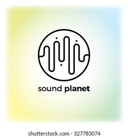 Sound wave symbol logo. Detailed stylish modern flat vector illustration and design element.