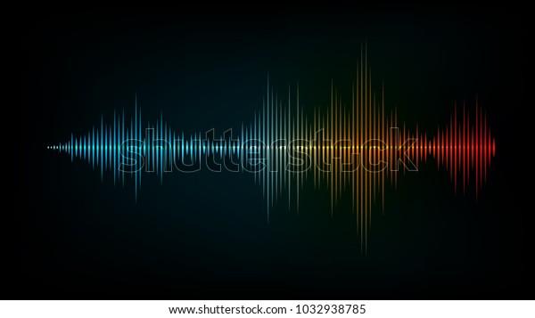 sound wave vector background
