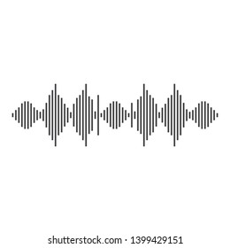 Sound wave vector icon illustration