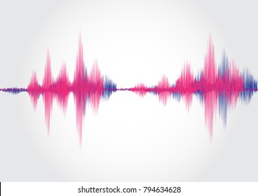 Sound wave ,vector illustration.