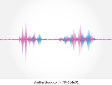 Sound wave ,vector illustration.