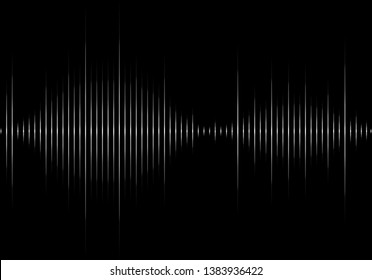 Sound wave vector isolated on black background. Abstract sound waves for voice design, music background, wallpaper, radio logo and icon. Creative music concept, vector illustration