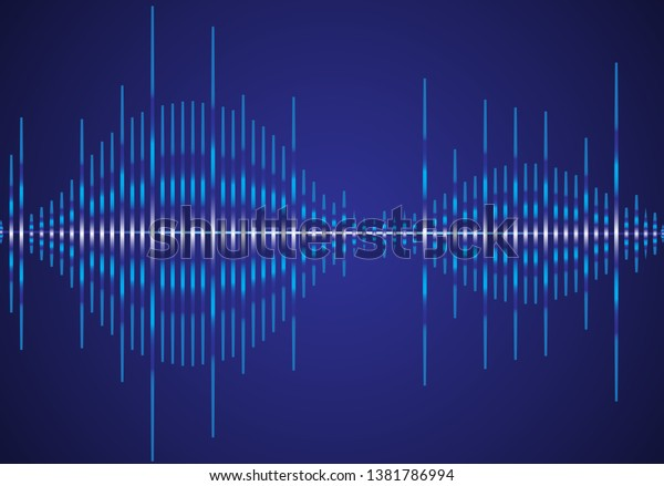 Vector De Stock Libre De Regalías Sobre Sound Wave Vector