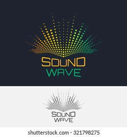 Sound Wave, vector logo design template. Abstract modern equalizer.