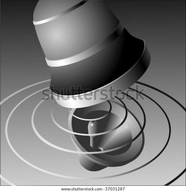 Sound Waves Bell Ringing Stock Vector (Royalty Free) 37031287