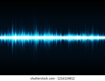 Sound waves oscillating glow light. Abstract technology background. Vector illustration eps 10.