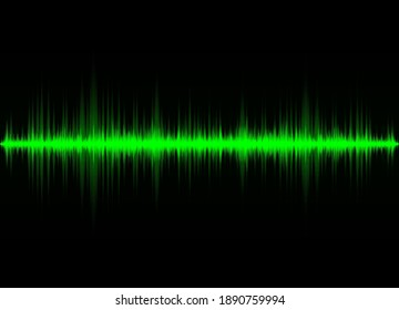 Sound waves oscillating glow light