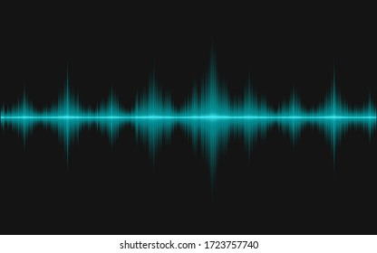 Sound waves of oscillating light.