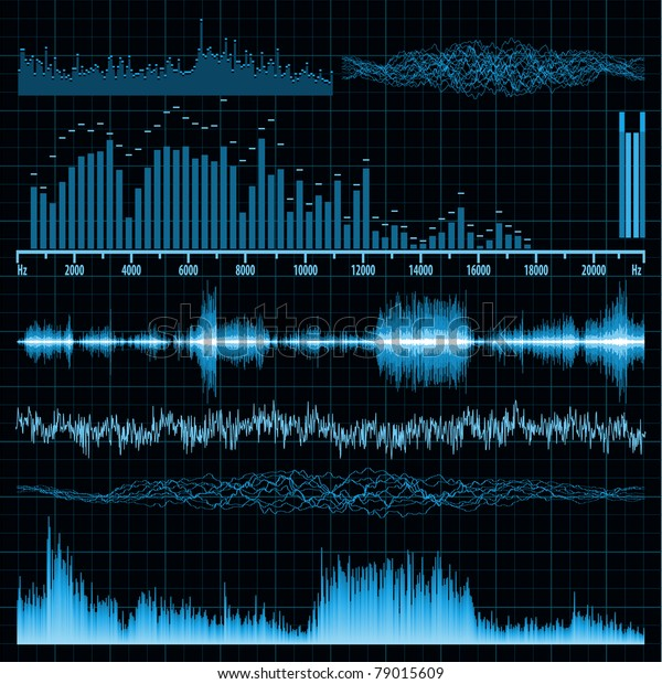 Sound Waves Set Music Background Eps Stock Vector (Royalty