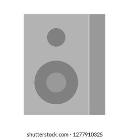 sound-box icon - sound-box  isolated, amplifier illustration- Vector speakers