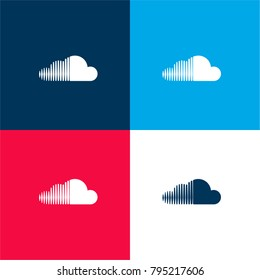 Soundcloud images stock photos vectors shutterstock soundcloud logo four color material and minimal icon logo set in red and blue malvernweather Gallery