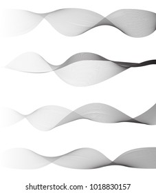 sounds wave on white background