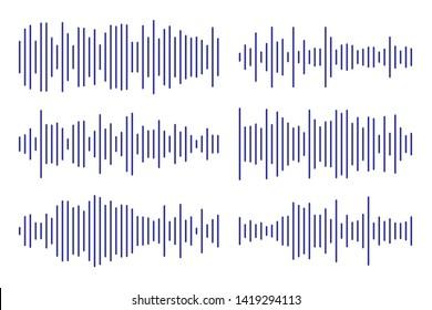 Soundwave line art for music apps and websites.