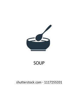 soup creative icon. Simple element illustration. soup concept symbol design from food collection. Can be used for web and mobile.